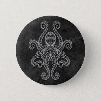 Intricate Dark Stone Octopus 6 Cm Round Badge