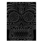 Intricate Dark Sugar Skull