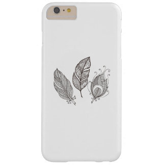 Intricate Feather Doodle Barely There iPhone 6 Plus Case