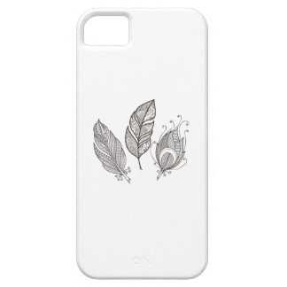 Intricate Feather Doodle iPhone 5 Cases