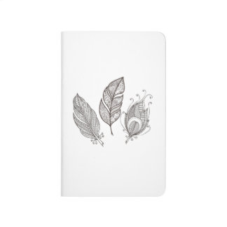 Intricate Feather Doodle Journal