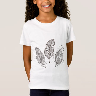 Intricate Feather Doodle T-Shirt