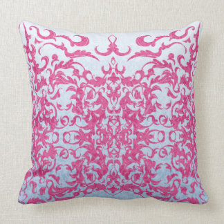 Intricate Fleur De Lis in Pink Cushion