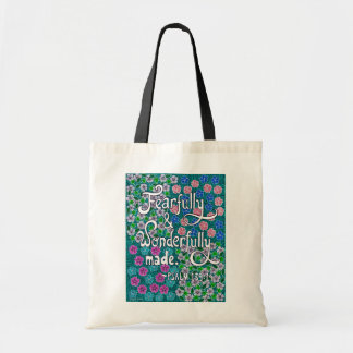 Intricate Floral Typography Bible Verse On Beauty Tote Bag