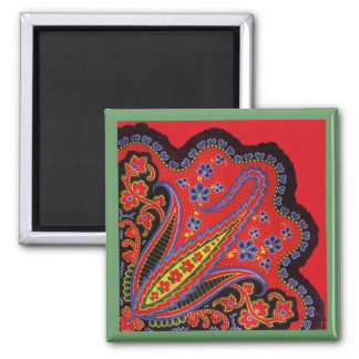 Intricate Folk-Art Magnets Tole Painting Style Mag
