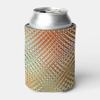 Intricate Gold Yellow Pink Red Green Pattern Can Cooler