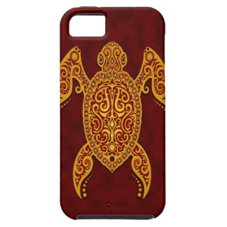 Intricate Golden Red Sea Turtle Tough iPhone 5 Case