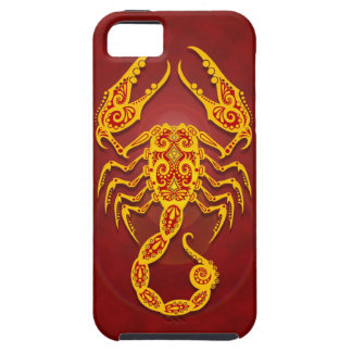 Intricate Golden Red Tribal Scorpio iPhone 5 Cases