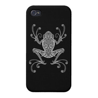 Intricate Gray Tree Frog Covers For iPhone 4