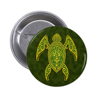 Intricate Green Sea Turtle 6 Cm Round Badge