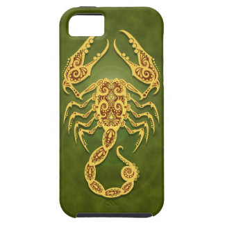 Intricate Green Tribal Scorpio iPhone 5 Case