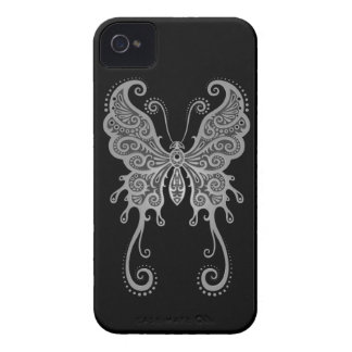 Intricate Grey Butterfly iPhone 4 Covers