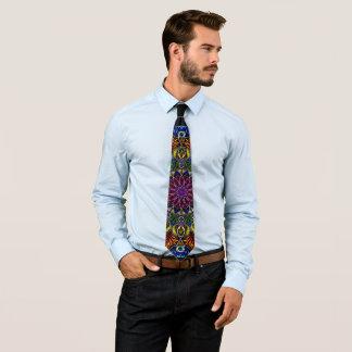 Intricate mandala necktie