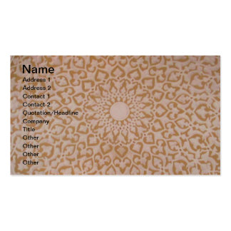 Intricate Ottoman Islamic design. Arabesque motif Double-Sided Standard Business Cards (Pack Of 100)