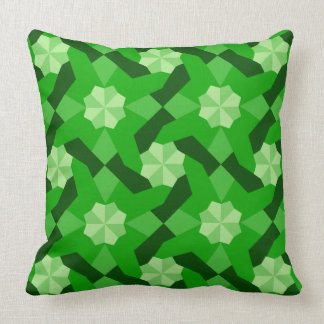 Intricate Patchwork Design Green Shades Cushion