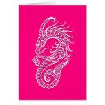 Intricate Pink Capricorn Zodiac