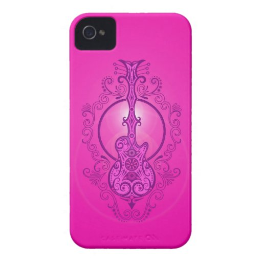 Intricate Pink Guitar Blackberry Bold Covers