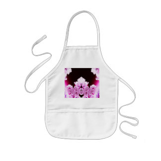 Intricate Pretty Pink and Purple Fractal Apron
