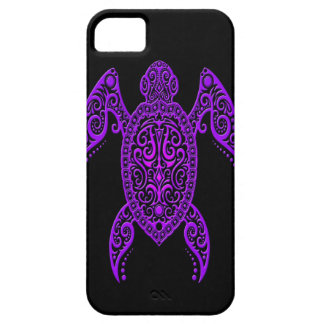 Intricate Purple and Black Sea Turtle Case For The iPhone 5