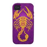 Intricate Purple and Yellow Tribal Scorpio