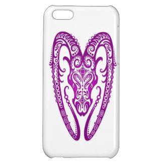 Intricate Purple Aries Zodiac on White Cover For iPhone 5C
