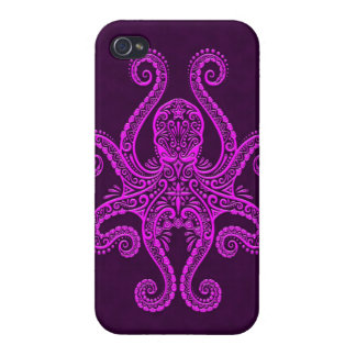 Intricate Purple Octopus iPhone 4/4S Cases