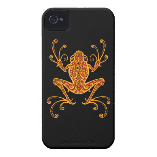 Intricate Red and Yellow Tree Frog iPhone 4 Case-Mate Cases