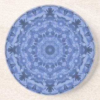 Intricate Royal Blue Kaleidoscope Coaster