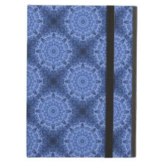 Intricate Royal Blue Kaleidoscope Pattern iPad Air Cover