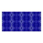 Intricate Royal Blue Pattern Photo Cards