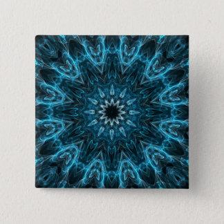 intricate snowflake 15 cm square badge