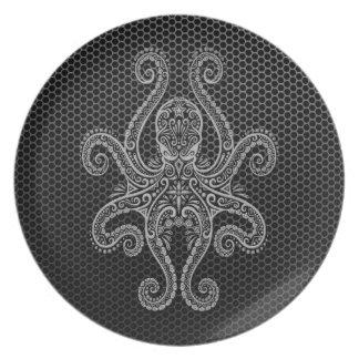 Intricate Steel Mesh Octopus Plate