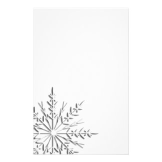 Intricate Winter Snowflake Stationery
