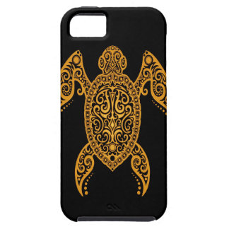 Intricate Yellow and Black Sea Turtle iPhone 5 Cover