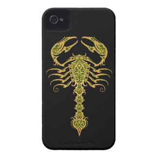 Intricate Yellow and Green Tribal Scorpion iPhone 4 Covers