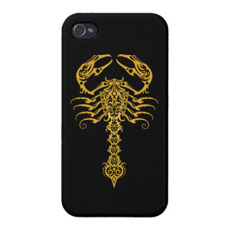 Intricate Yellow Tribal Scorpion iPhone 4/4S Covers