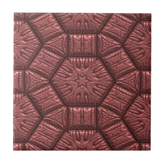 Intriguing shimmering Star Pattern, rose Small Square Tile