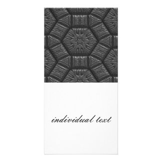 Intriguing shimmering Star Pattern,silver Personalised Photo Card