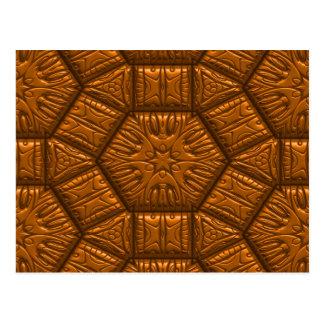 Intriguing shimmering Star Pattern,terra Postcard