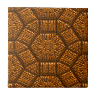 Intriguing shimmering Star Pattern,terra Small Square Tile