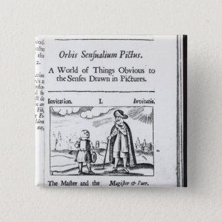 Introduction to 'Orbis Sensualium Pictus' 15 Cm Square Badge