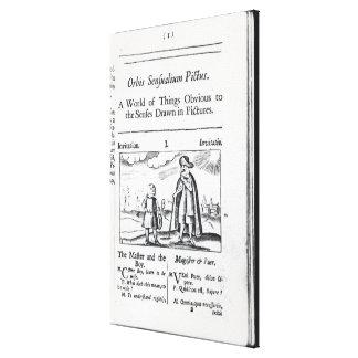 Introduction to 'Orbis Sensualium Pictus' Canvas Print