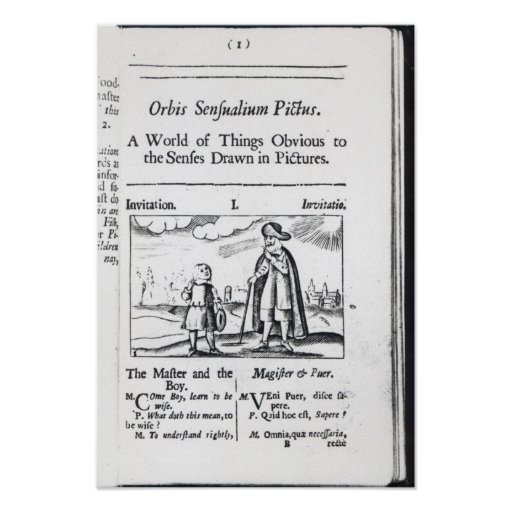 Introduction to 'Orbis Sensualium Pictus' Posters