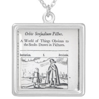 Introduction to 'Orbis Sensualium Pictus' Silver Plated Necklace