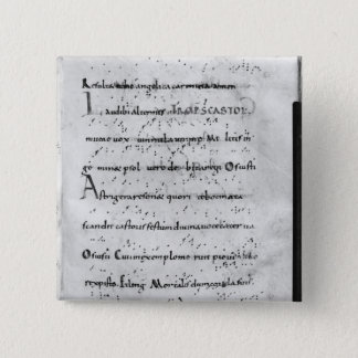Introit for the feast of St. Castor 15 Cm Square Badge