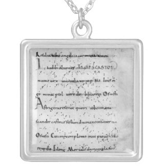 Introit for the feast of St. Castor Silver Plated Necklace