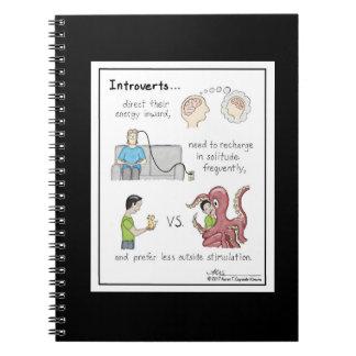 Introvert Basics Black Notebook