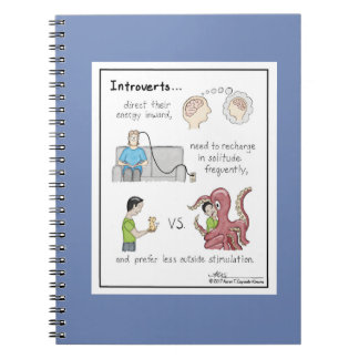 Introvert Basics Blue Notebook