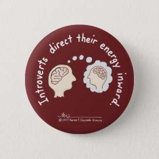 Introvert Basics: Energy Inward Burgundy Button