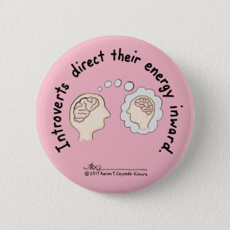 Introvert Basics: Energy Inward Pink Button
